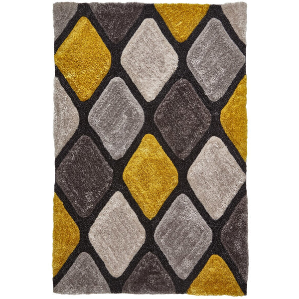 Think Rugs Noble House Grey Yellow 9247