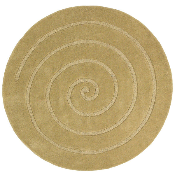 Think Rugs Spiral Gold Think