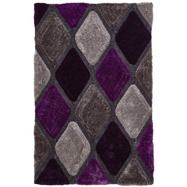 Think Rugs Noble House Grey Purple 9247 Think