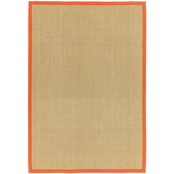 Asiatic Sisal Linen with Orange border-Main Image