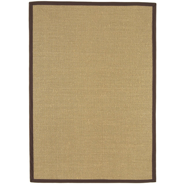 Asiatic Sisal Linen with Chocolate border-Main Image