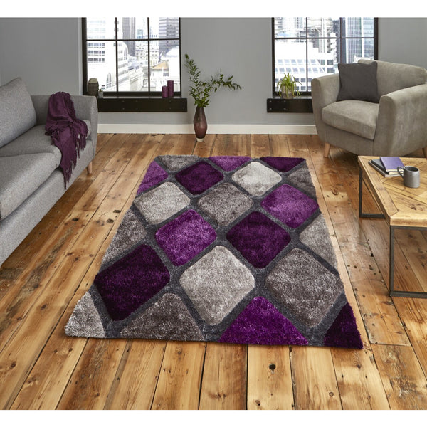 Think Rugs Noble House Grey Purple 9247