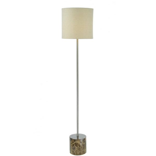Dar Lighting Nougat Brown Floor Lamp with Polished Chrome - NOU4229 DAR Lighting