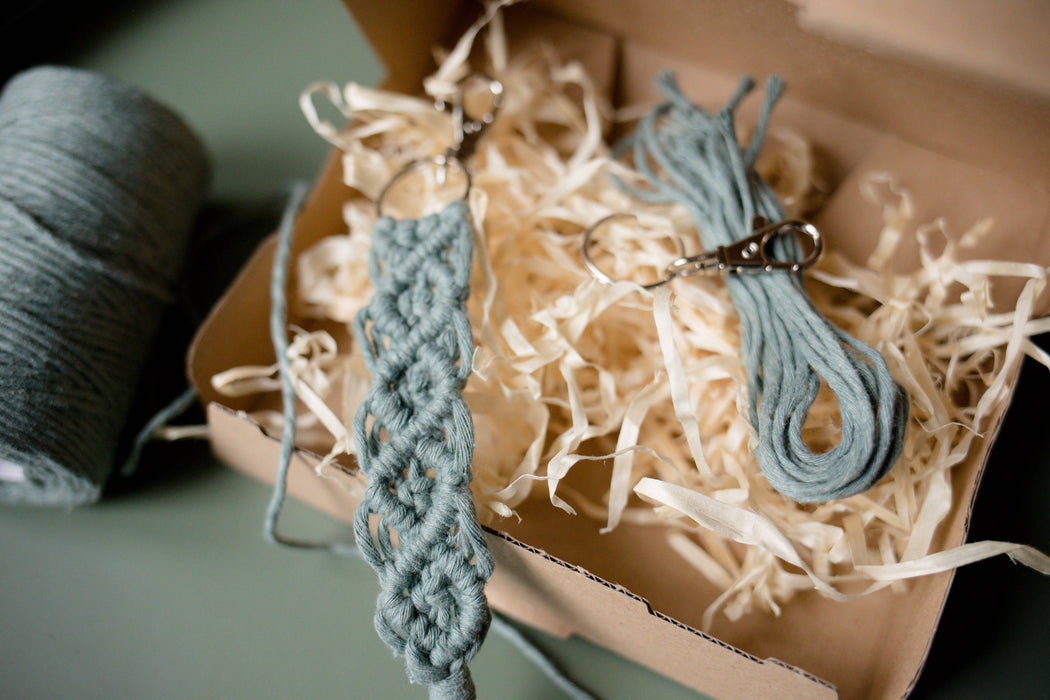 Macrame Keychain DIY-Box Set of 3