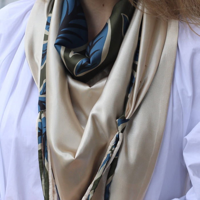 Silk Leaves Scarf