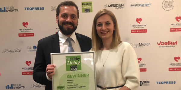 Yammbits Fruit Balls gewinnen den Healthy Living Award 2020 in Bereich Snacks