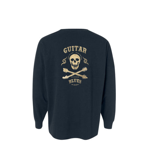 Blues Anarchy Collegiate Long Sleeve (Unisex) - Navy