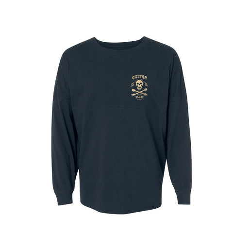 Blues Anarchy Collegiate Long Sleeve (Unisex) - Black