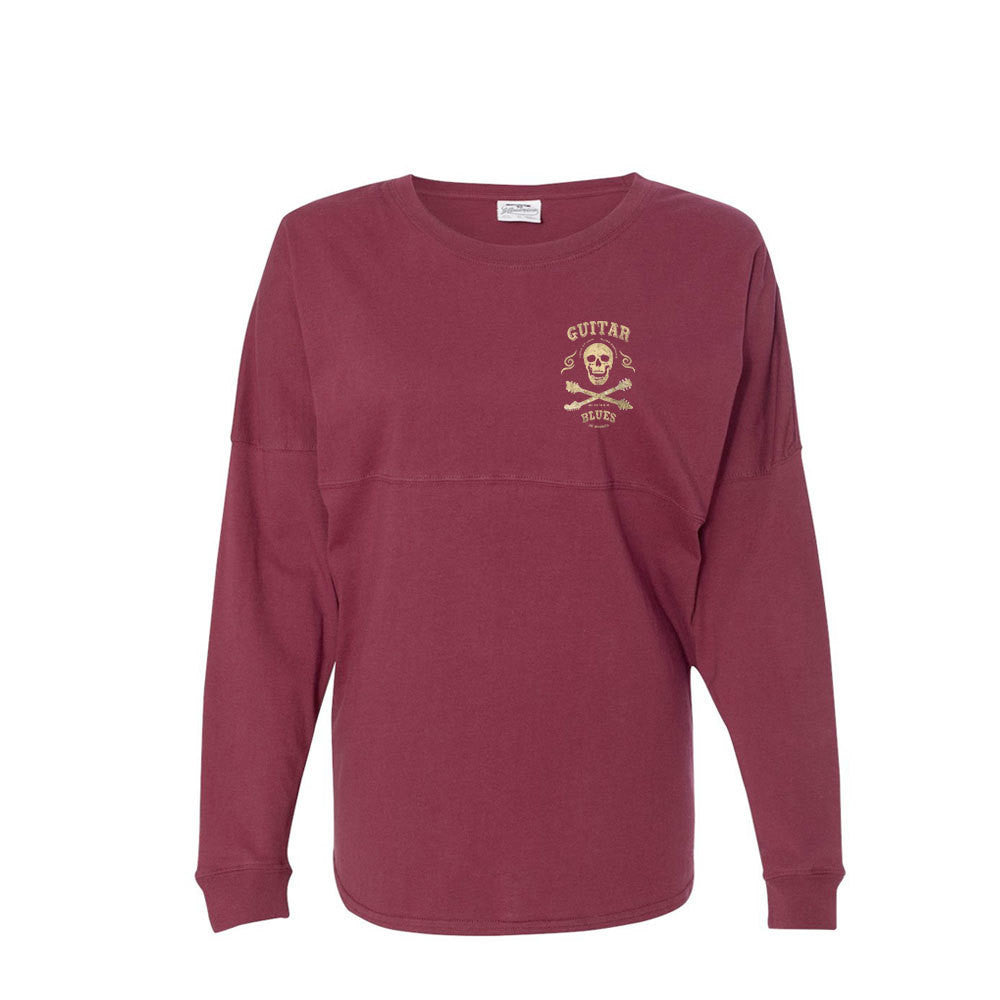 Blues Anarchy Collegiate Long Sleeve (Unisex) - Maroon