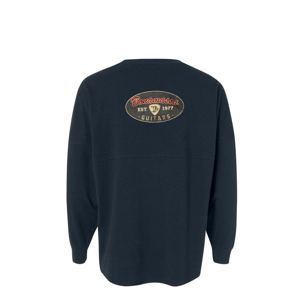 The Stamp Collegiate Long Sleeve (Unisex) - Navy