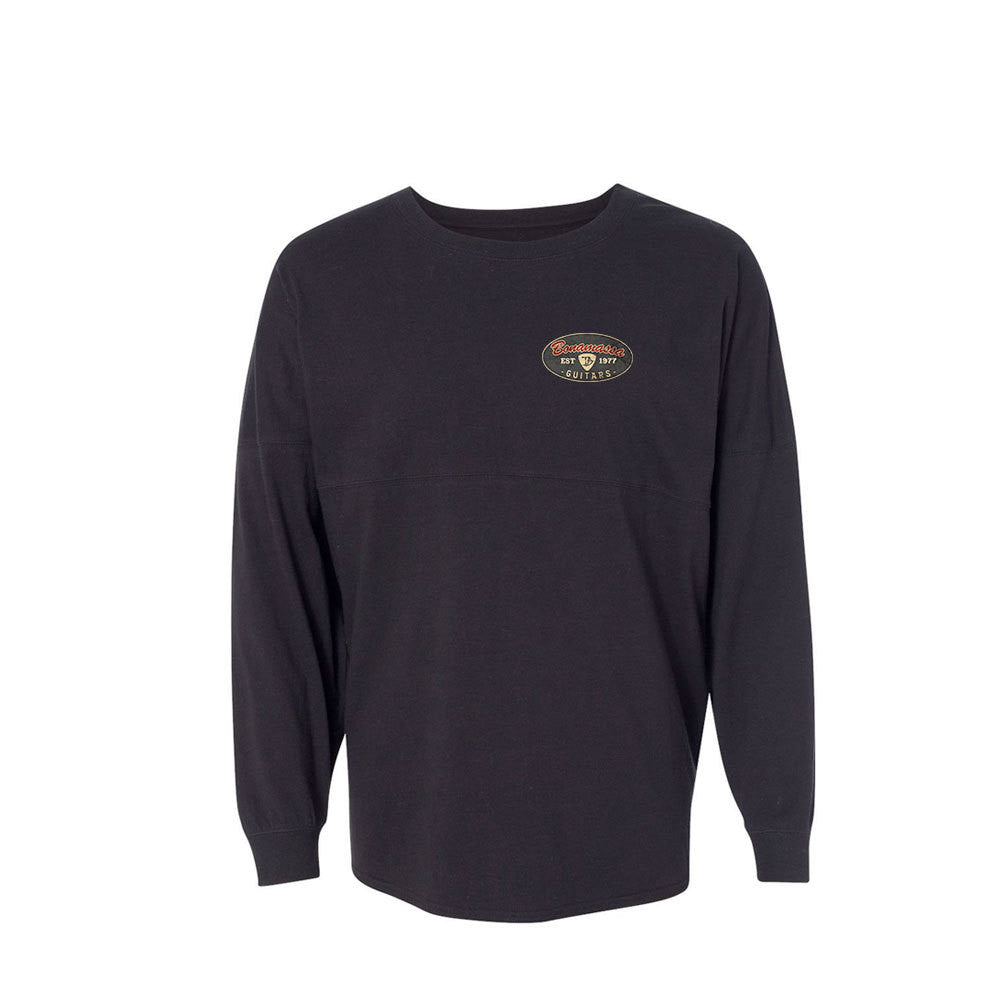 The Stamp Collegiate Long Sleeve (Unisex) - Black