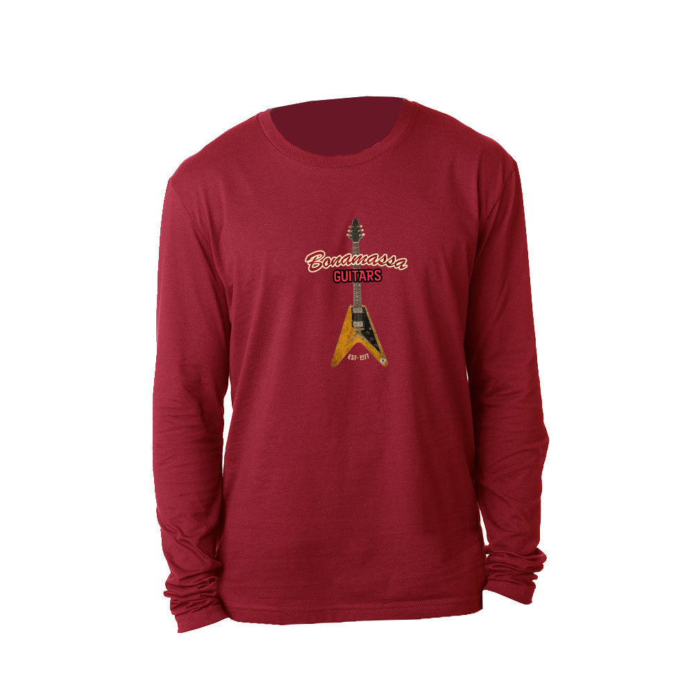 Red Lady Long Sleeve (Men) - Cardinal