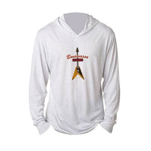Red Lady Long Sleeve & Hoodie (Unisex) - Heather White