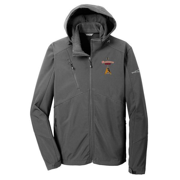 Red Lady Eddie Bauer Parka (Men) - Grey Steel