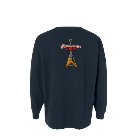 Red Lady Collegiate Long Sleeve (Unisex) - Navy