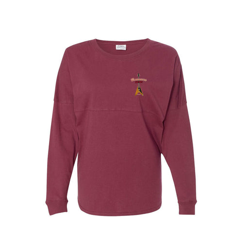 Red Lady Collegiate Long Sleeve (Unisex) - Maroon
