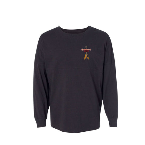 Red Lady Collegiate Long Sleeve (Unisex) - Black
