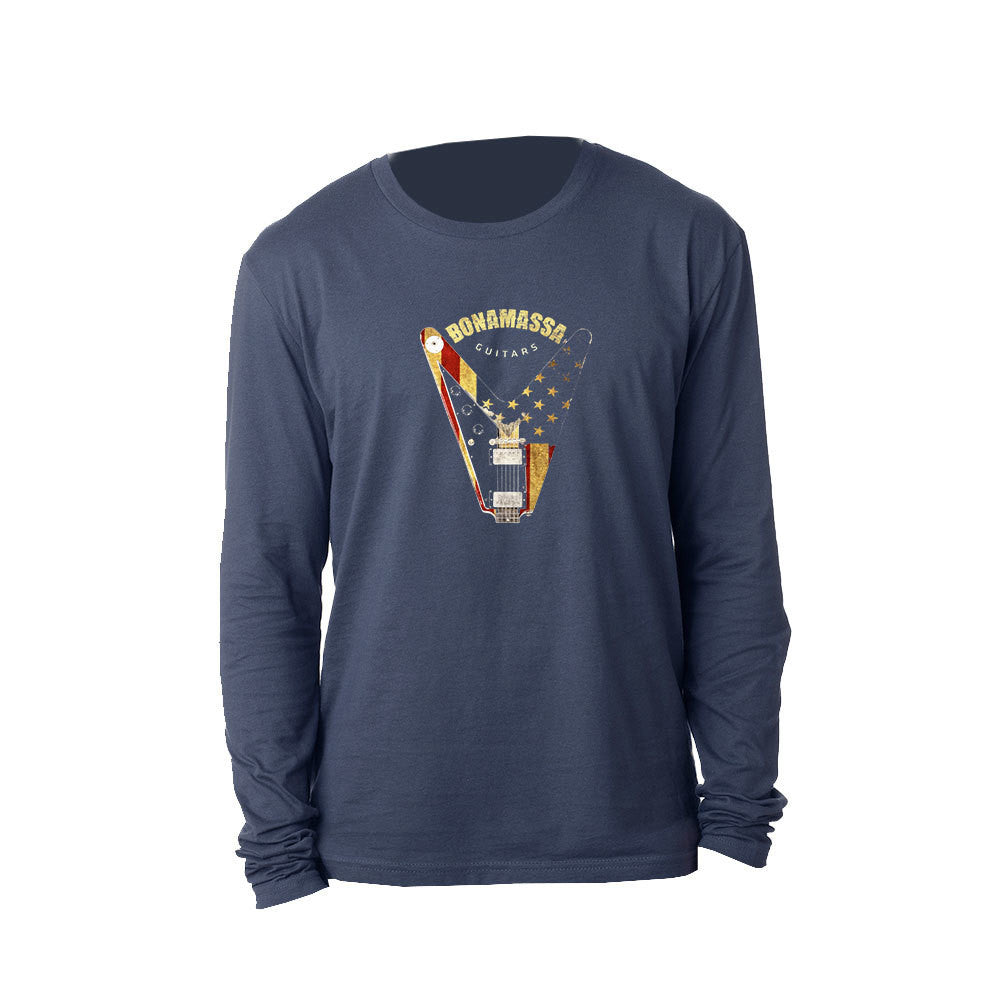 Peace Sign Long Sleeve (Men) - Indigo