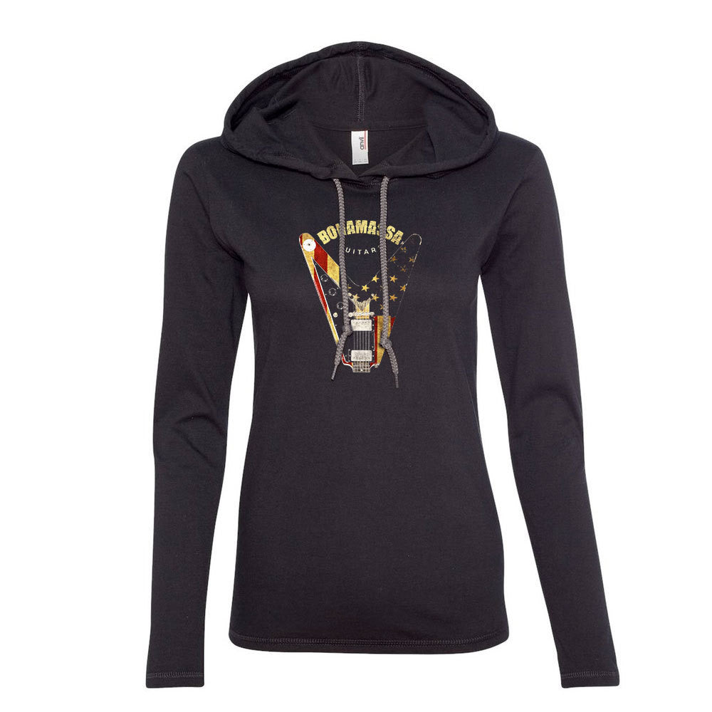 Peace Sign Hooded Long Sleeve (Women)