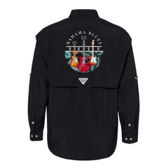 Bahama Blues Columbia PFG Bahama II Long Sleeve (Men) - Black