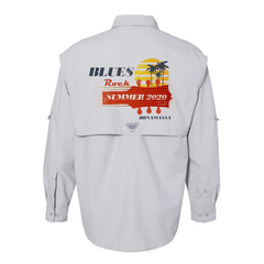 Blues Rock Summer Columbia PFG Bahama II Long Sleeve (Men) - Cool Grey