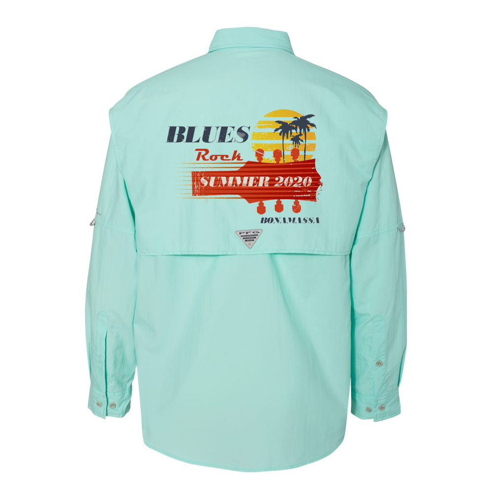 Blues Rock Summer Columbia PFG Bahama II Long Sleeve (Men) - Gulf Stream