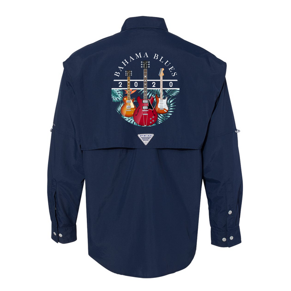 Bahama Blues Columbia PFG Bahama II Long Sleeve (Men) - Navy