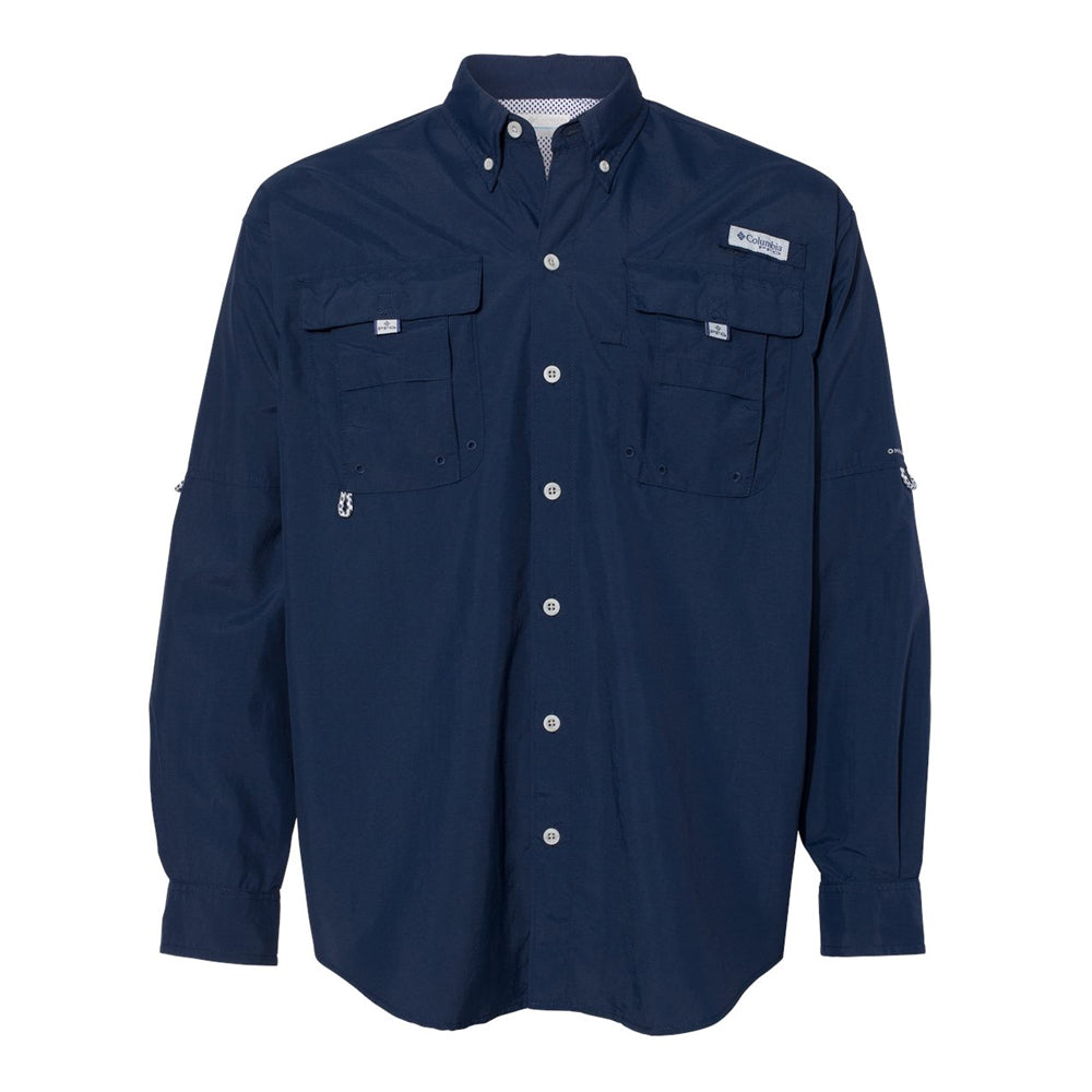 Sailing Blues Columbia PFG Bahama II Long Sleeve (Men) - Navy