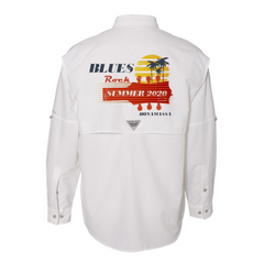 Blues Rock Summer Columbia PFG Bahama II Long Sleeve (Men) - White