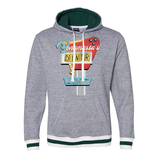 Bonamassa's Diner Peppered Fleece Pullover (Unisex) - Forest