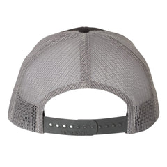 Monochromatic Blues Snapback Trucker Hat - Black/Charcoal