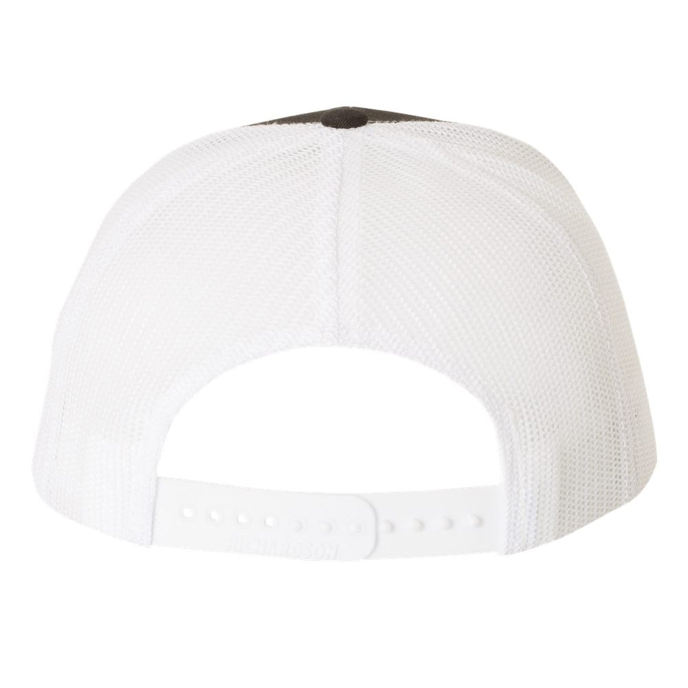 Monochromatic Blues Snapback Trucker Hat - Black/White