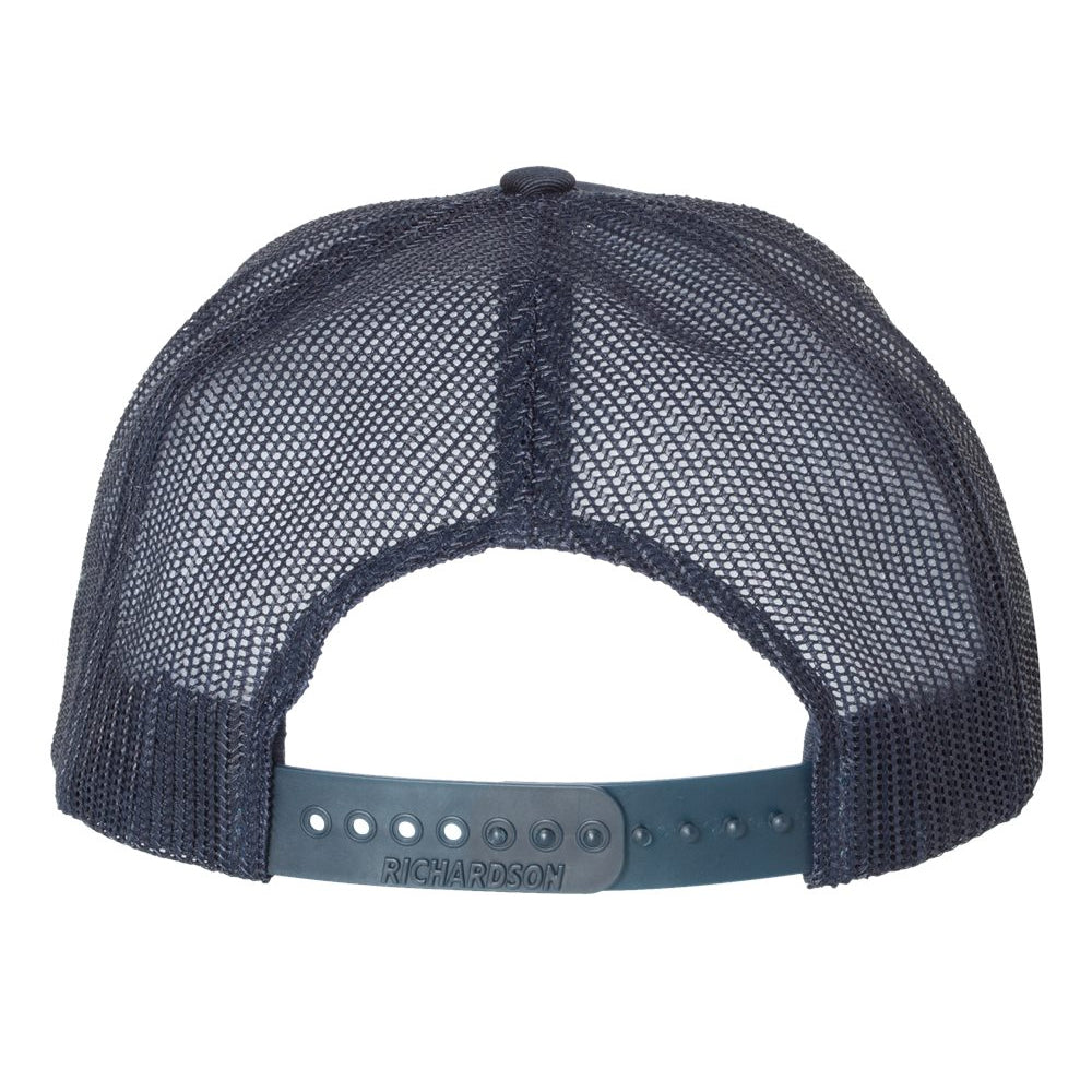 Monochromatic Blues Snapback Trucker Hat - Navy/Navy
