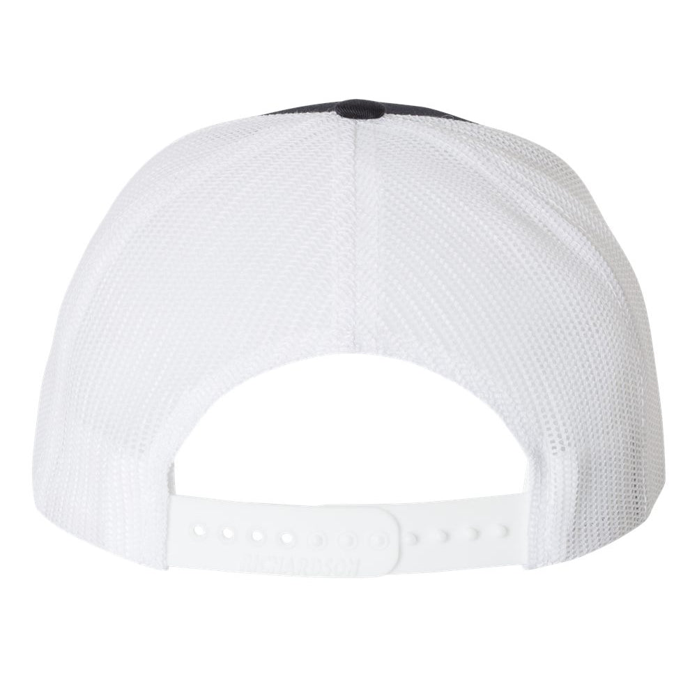 Always On The Road Snapback Trucker Hat - Navy/White