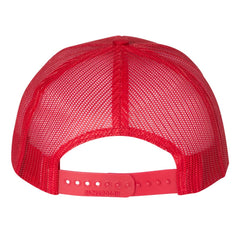 Monochromatic Blues Snapback Trucker Hat - Red/Red
