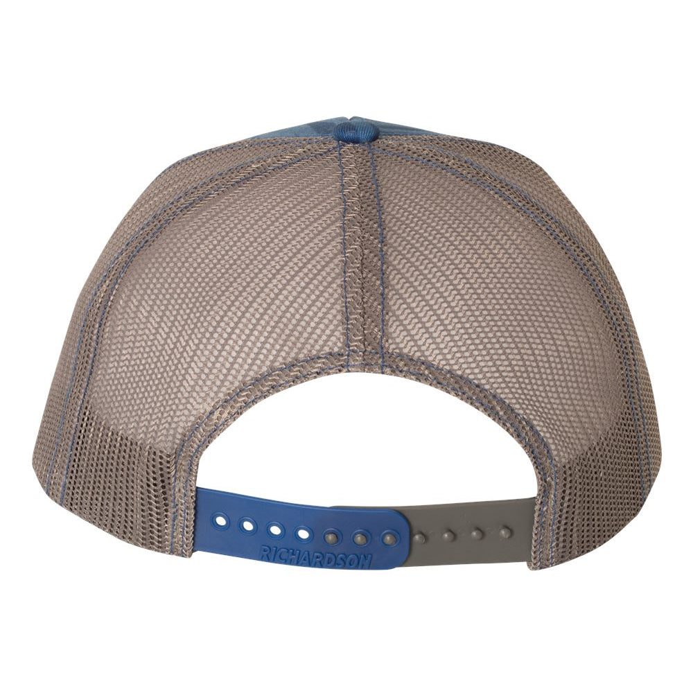 Always On The Road Trucker Hat - Streak/Royal