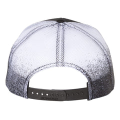 "JB Pick ""Puff"" Printed Mesh-Back Trucker Hat - Black Fade"