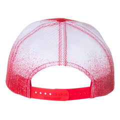 JB Pick Printed Mesh-Back Trucker Hat - Red Fade