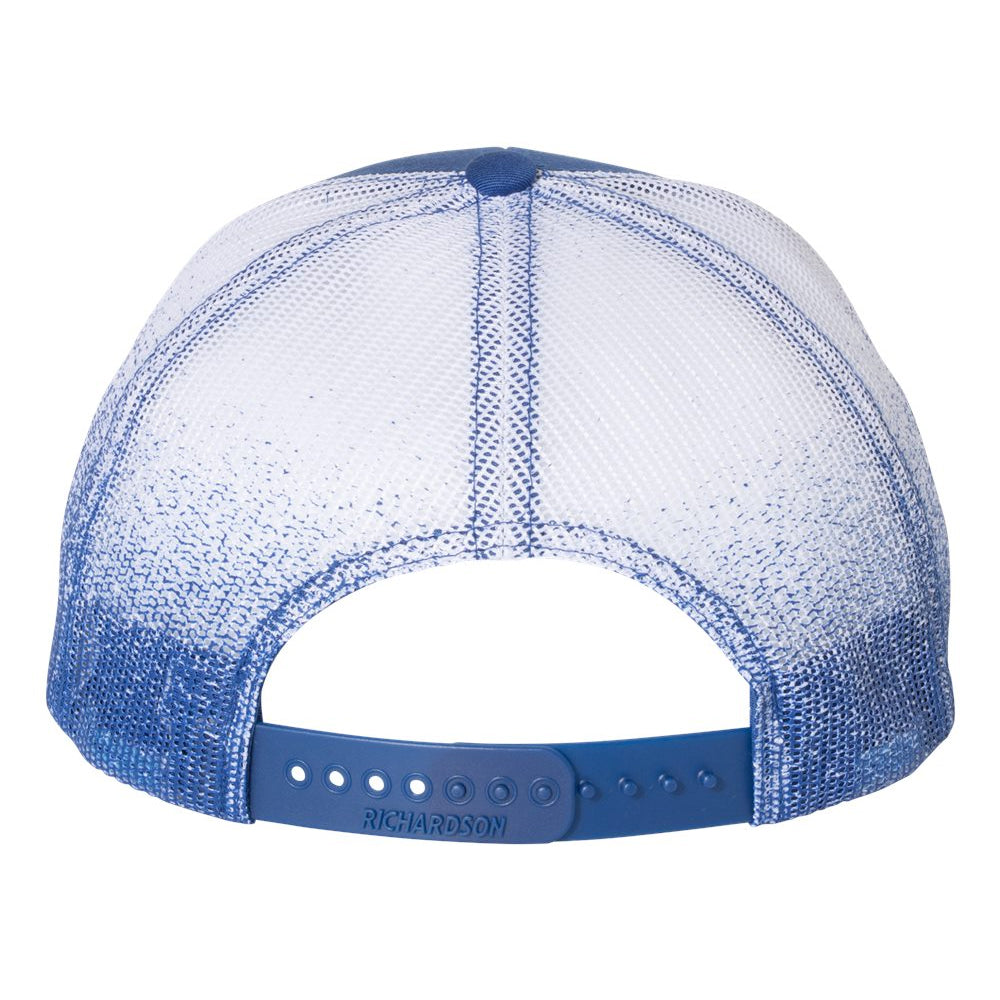 Quadzilla Printed Mesh-Back Trucker Hat - Royal Fade
