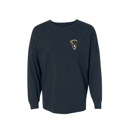 Peace Sign Collegiate Long Sleeve (Unisex) - Navy