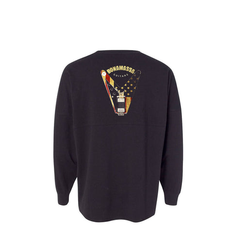 Peace Sign Collegiate Long Sleeve (Unisex) - Black
