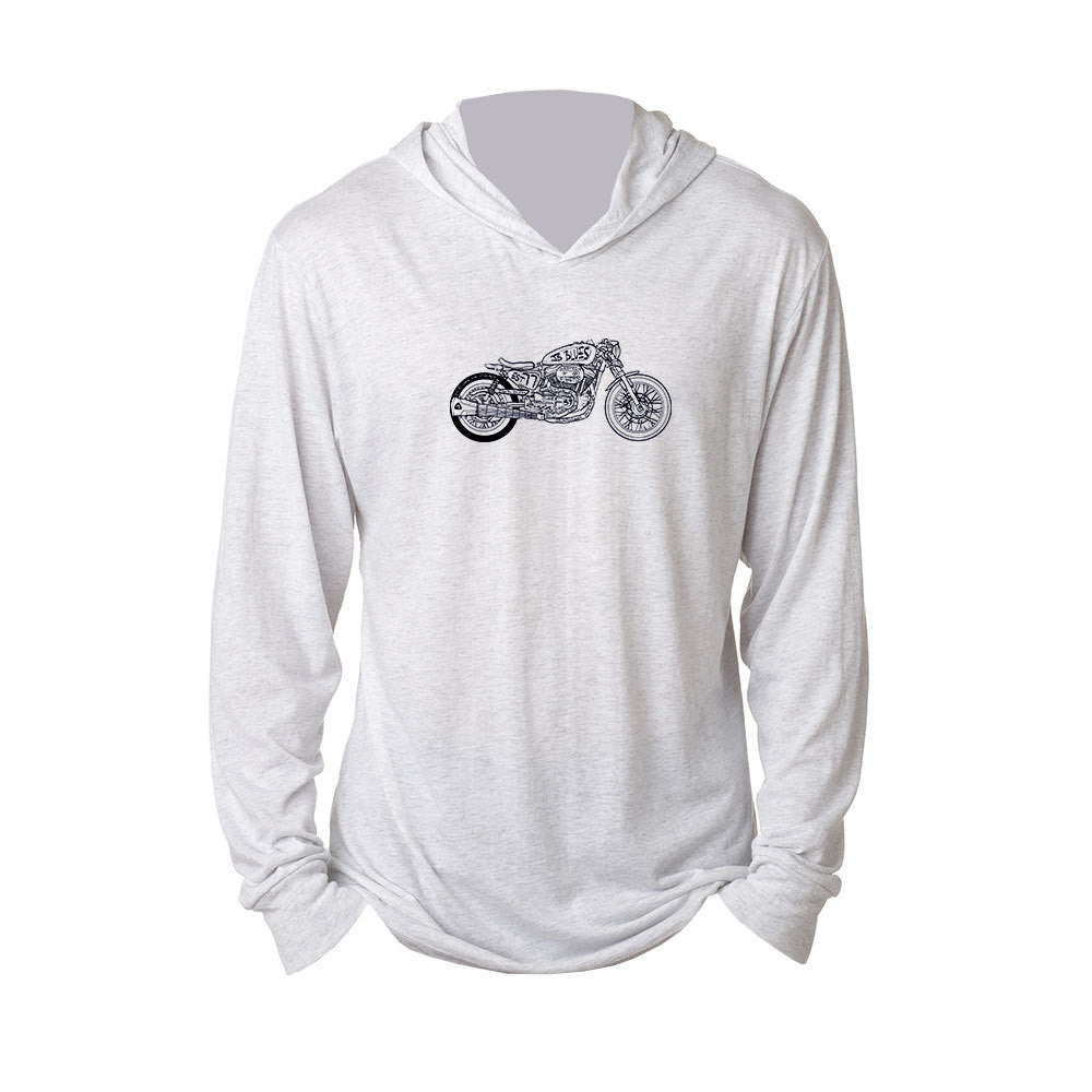 Bona-Bobber Long Sleeve & Hoodie (Unisex) - Heather White