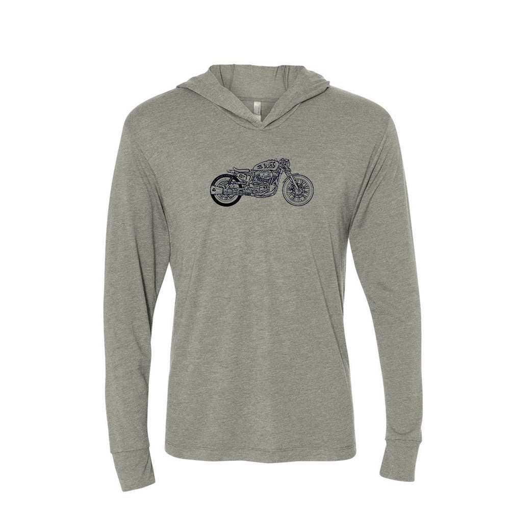 Bona-Bobber Long Sleeve & Hoodie (Unisex) - Premium Heather Grey
