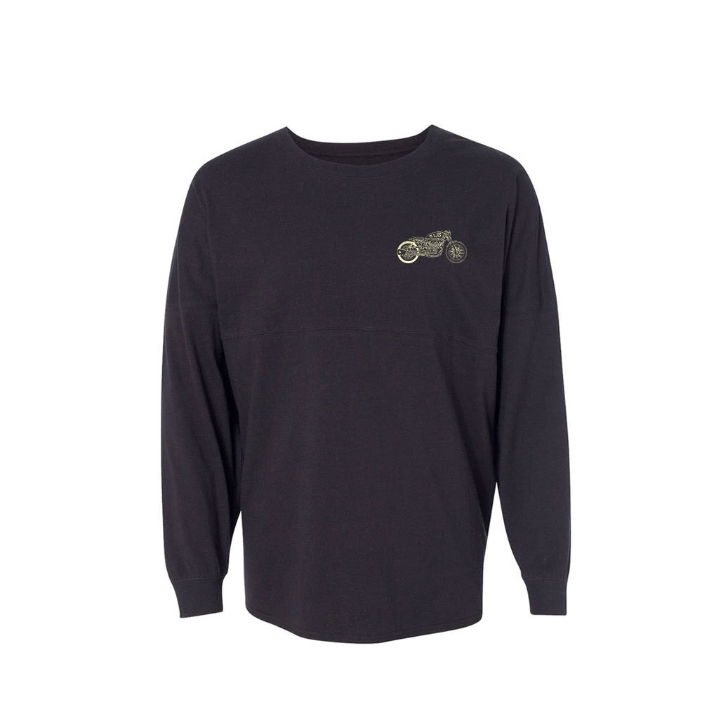 Bona-Bobber Collegiate Long Sleeve (Unisex) - Black