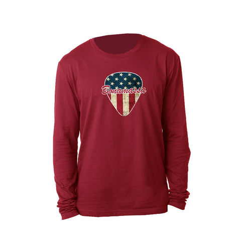 American Style Long Sleeve (Men) - Cardinal