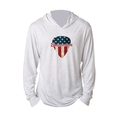 American Style Long Sleeve & Hoodie (Unisex) - Heather White