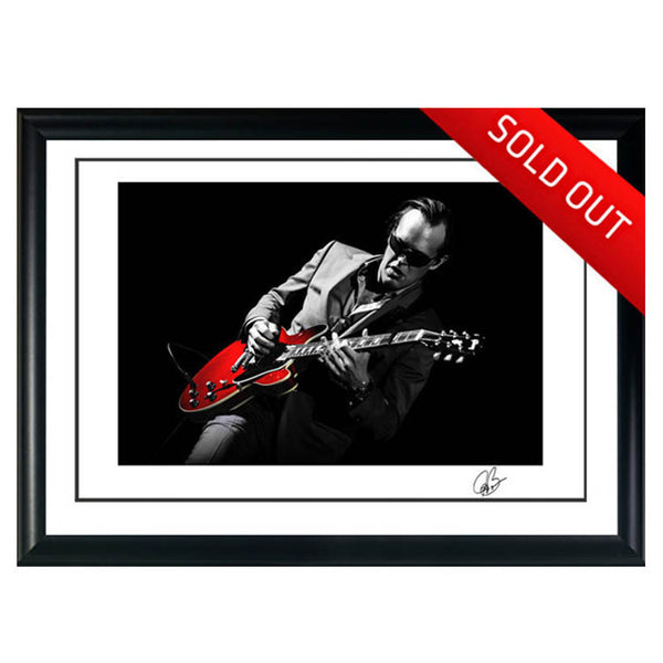 "#15 ""My Red Guitar"" JOE BONAMASSA Collectible Litho (FRAMED - USA ONLY)"