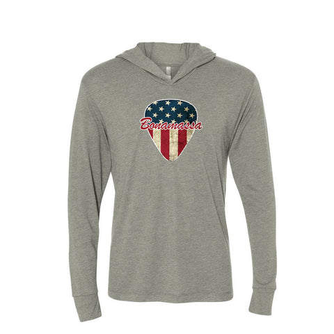 American Style Long Sleeve & Hoodie (Unisex) - Premium Heather Grey