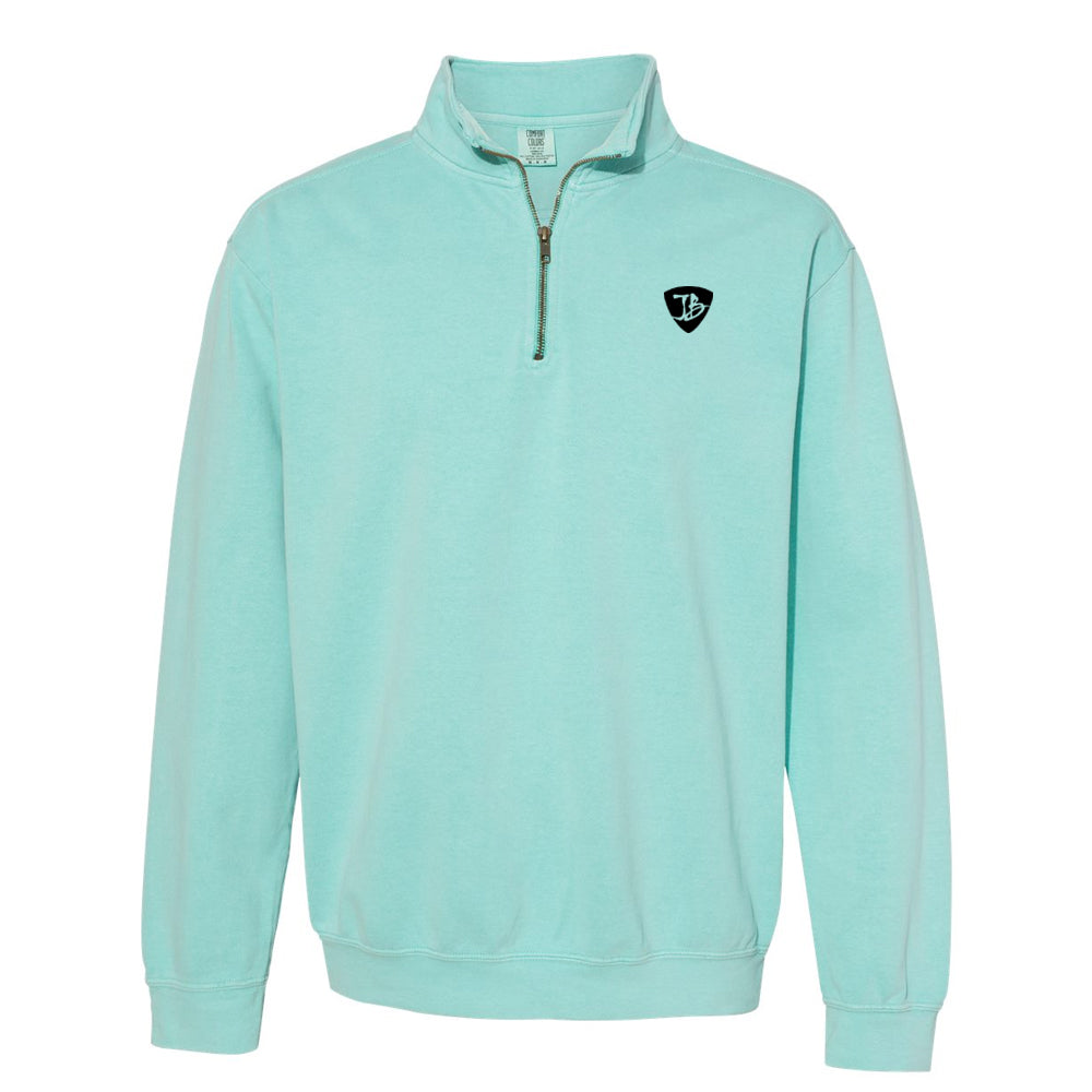 Watercolor Blues Comfort Colors 1/4 Zip Up (Unisex) - Mint