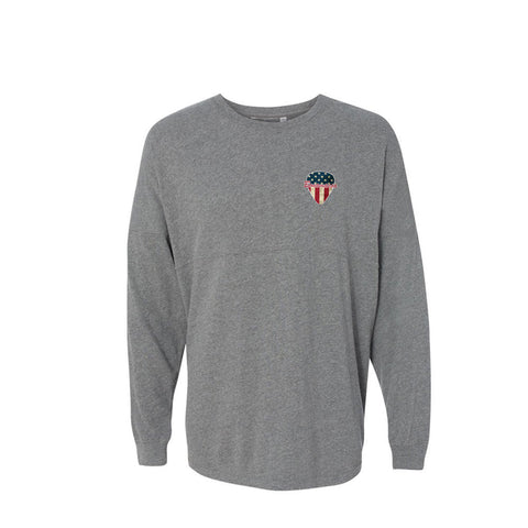 American Style Collegiate Long Sleeve (Unisex) - Oxford